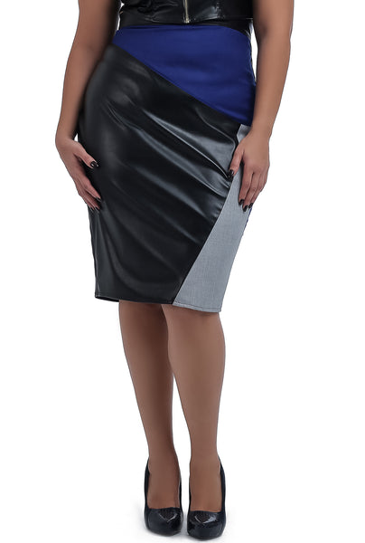 2 Colors Leather Skirt