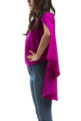 Super-Cape Blouse - Fuchsia