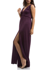 V Shape Dress - Purple