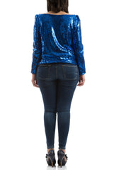 Sequin Top - Blue