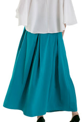 The Box pleated Skirt - Turquoise