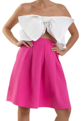 The Mini Box pleated Skirt - Pink