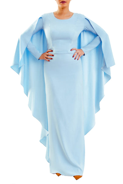 The Cape Dress - Baby Blue