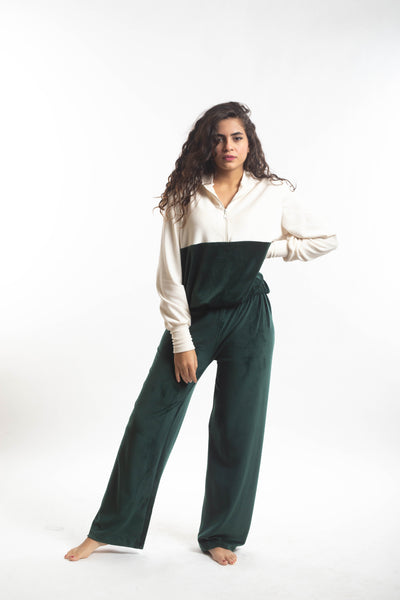 Tracksuit 2 Piece Set - Emerald Green