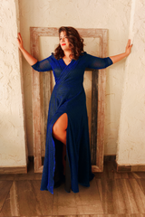 Sparkle Soiree Dress - Blue