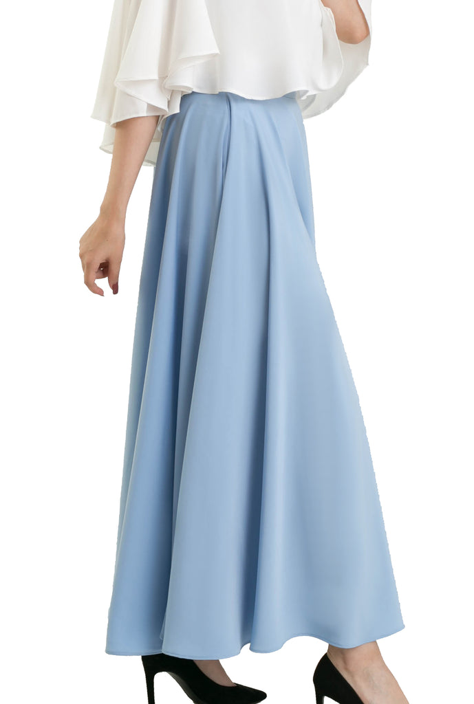 The Ankle Semi circular Skirt - Baby Blue