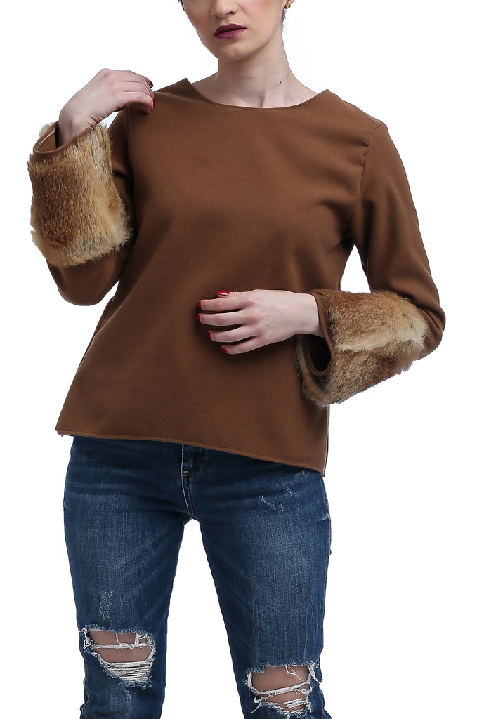 Fur Cuffed Top