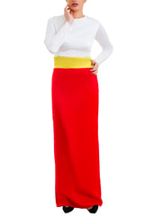 Long Dry Stan Dress - White & Red