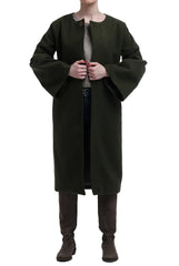 Long Flounced Coat - Army Green