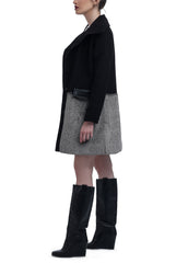 Wool Fur Coat - Black