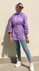 Daisy Wide Blouse - Lilac