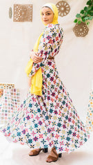 The Colorful Islamic Star kimono  Dress