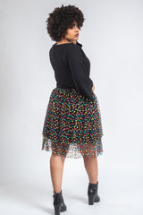 Cotton Candy Tulle Skirt - Black