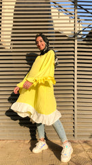 Oversized Wide Blouse - Lemon