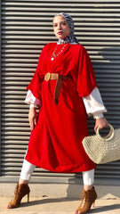Oversized Wide Blouse - Red