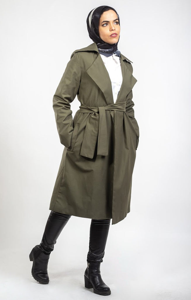 Trench Coat - Army Green