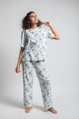 The Original Short Sleeve Pjs Set White