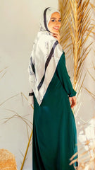 Green Emerald With Side Belt Dress