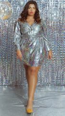 Sparkle Disco Dress - Silver