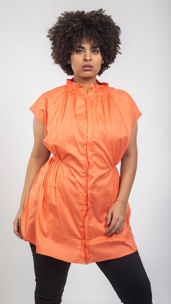 Daisy Wide Blouse - Orange