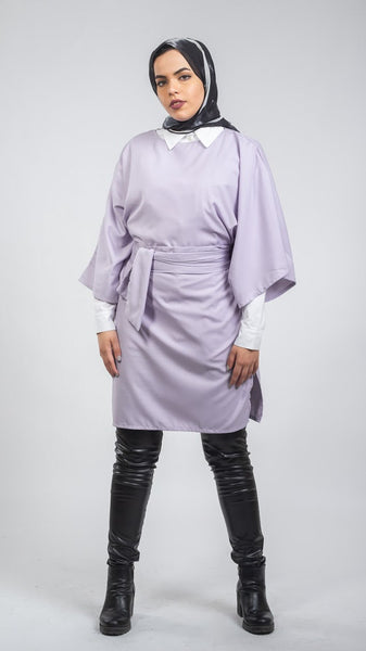 Oversized Wide Blouse - Lavendar