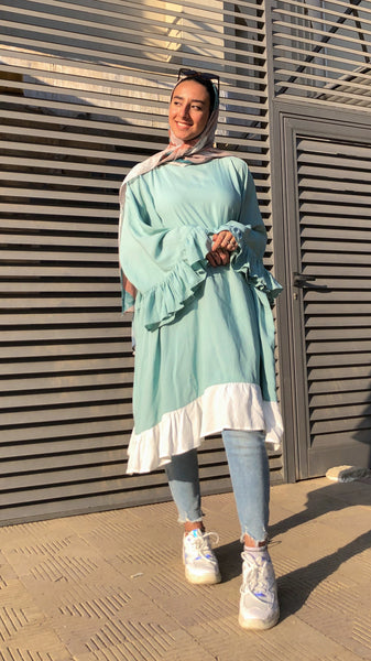 Oversized Wide Blouse - Mint