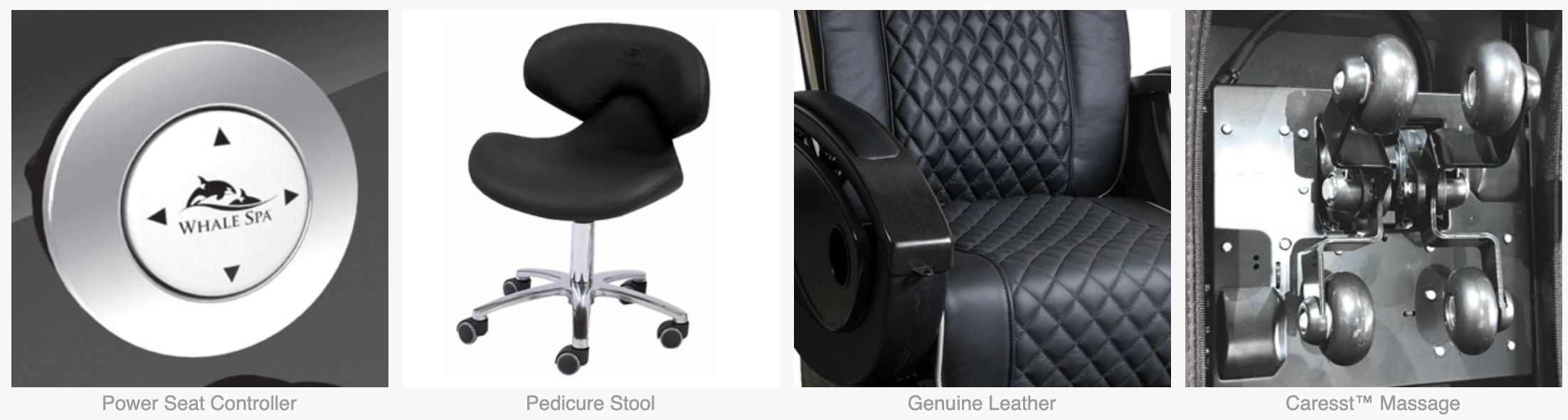 Alden Crystal Pedicure Chair SPAALCR Whale Spa