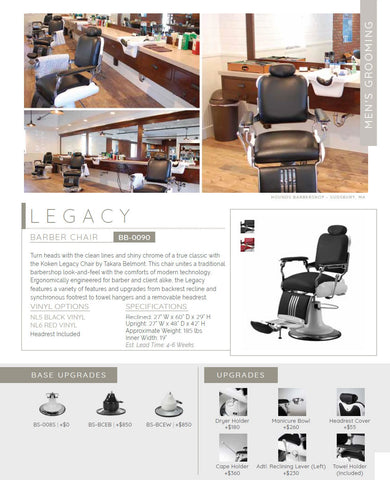 LEGACY Barber Chair by TAKARA BELMONT (Made in Japan) AGS Beauty