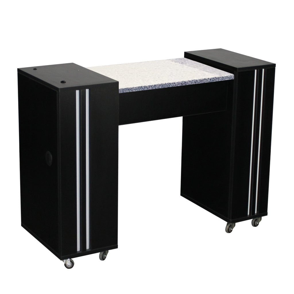Adelle (A) Manicure Table Black Deco Salon - Manicure Tables