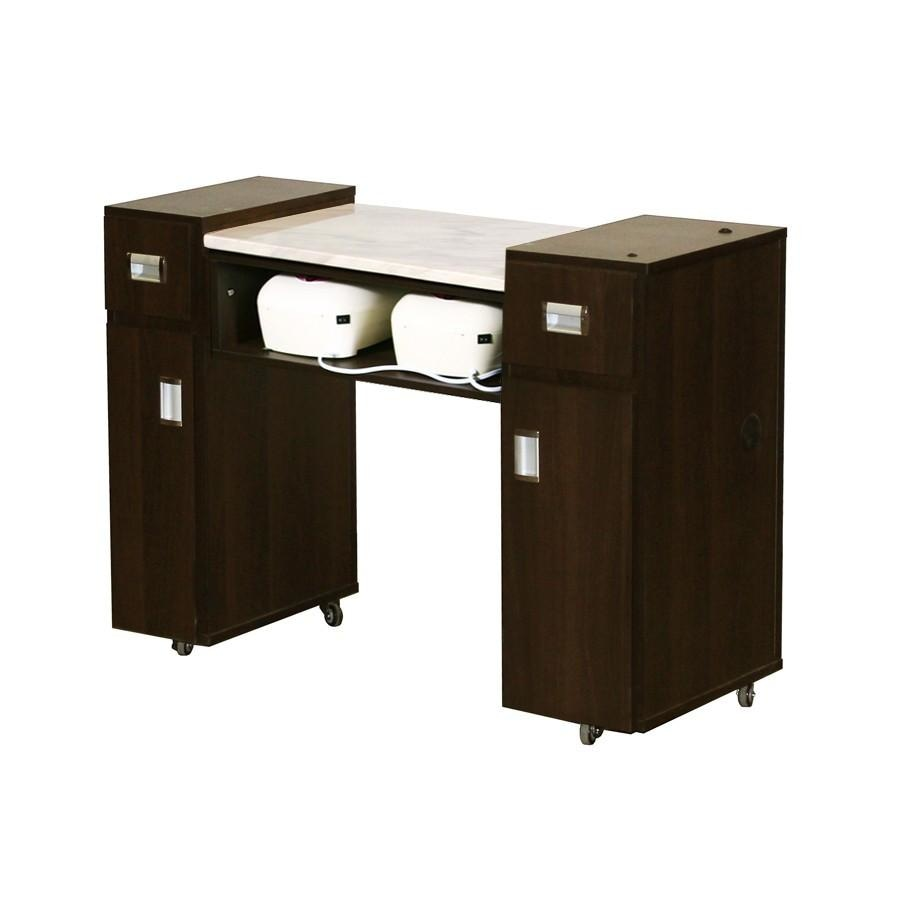 Adelle (AUV) Manicure Table Chocolate Deco Salon - Manicure Tables