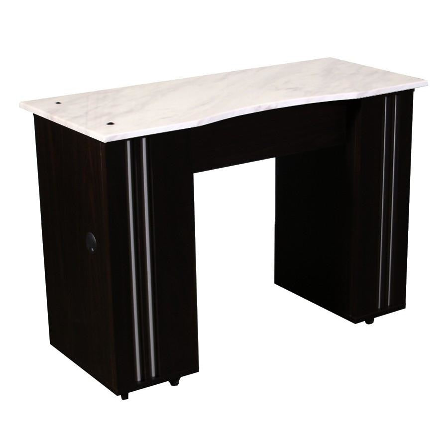 Adelle (B) Manicure Table Dark Cherry Deco Salon - Manicure Tables