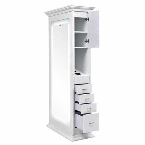 Adonis Double LED Lighting Styling Station White DIR - Styling Stations