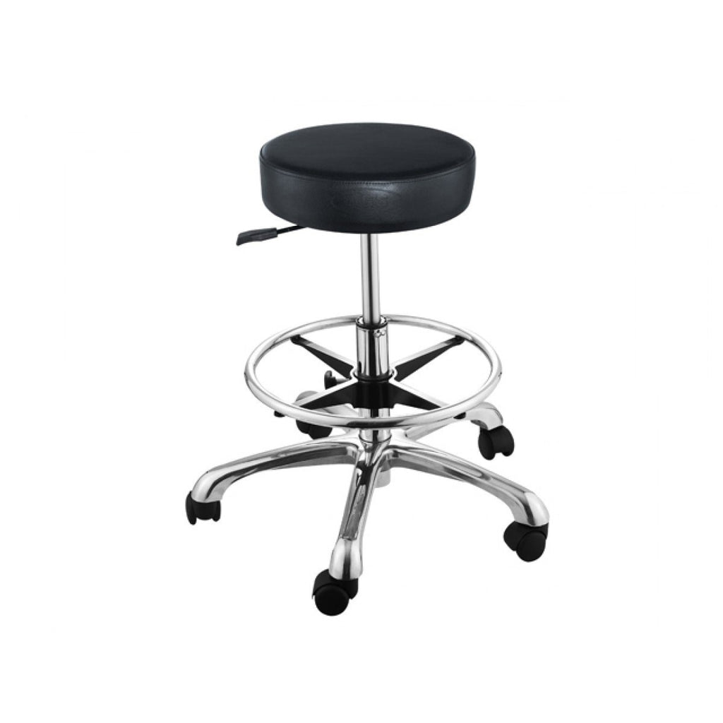 Amy Stool with Footrest Ring AGS-C-001F AGS Beauty - Stools