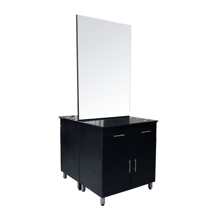 Aston Double Sided Styling Station Black Deco Salon - Styling Stations