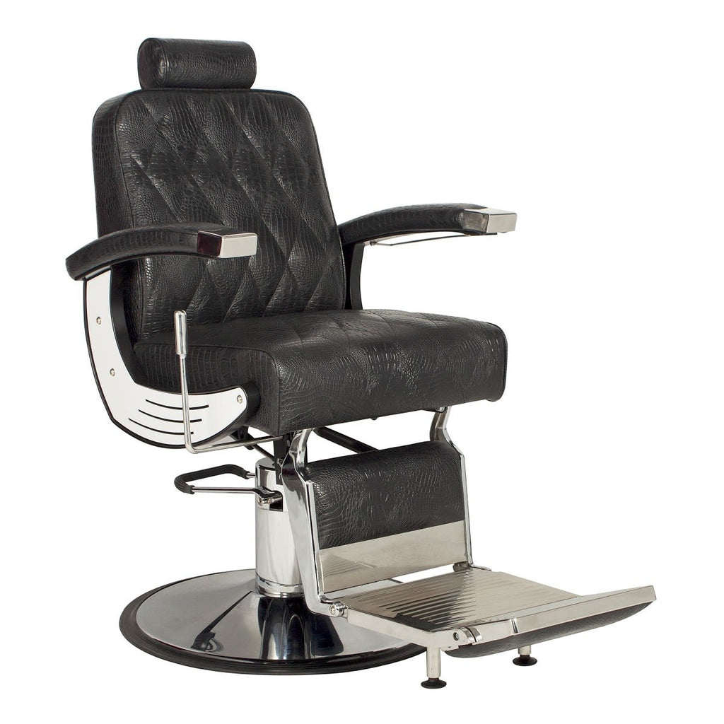 Baron Barber Chair Black AGS Beauty - Barber Chairs