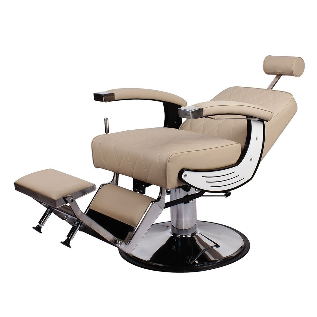 Baron Barber Chair Khaki AGS Beauty - Barber Chairs