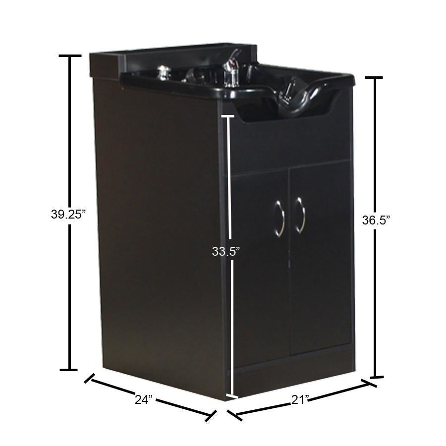 Brook Shampoo Unit in Black Deco Salon - Wet Stations