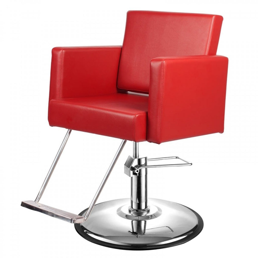Canon Salon Styling Chair Cardinal Red AGS Beauty - Styling Chairs