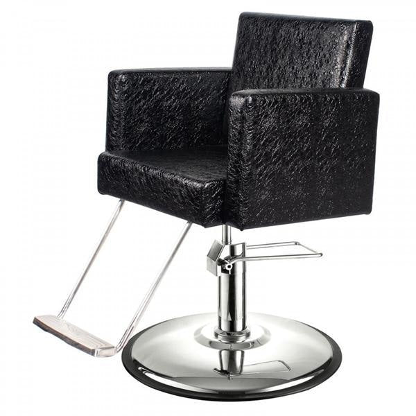 Canon Salon Styling Chair Patent Black Crocodile AGS Beauty - Styling Chairs