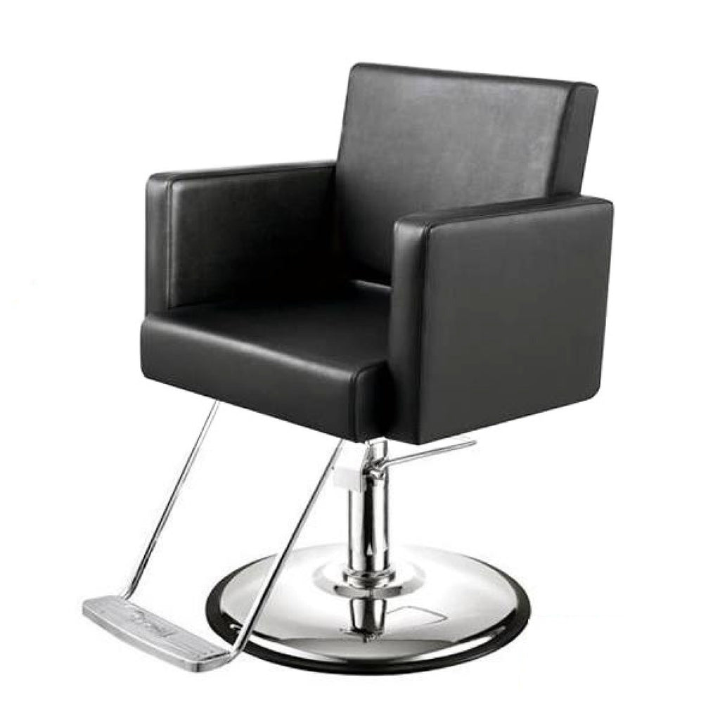 Canon Salon Styling Chair Premium Black AGS Beauty - Styling Chairs