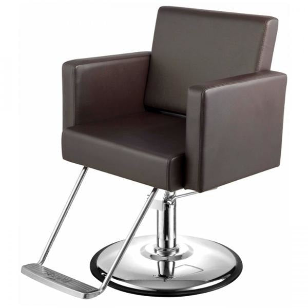Canon Salon Styling Chair Soft Chocolate Brown AGS Beauty - Styling Chairs
