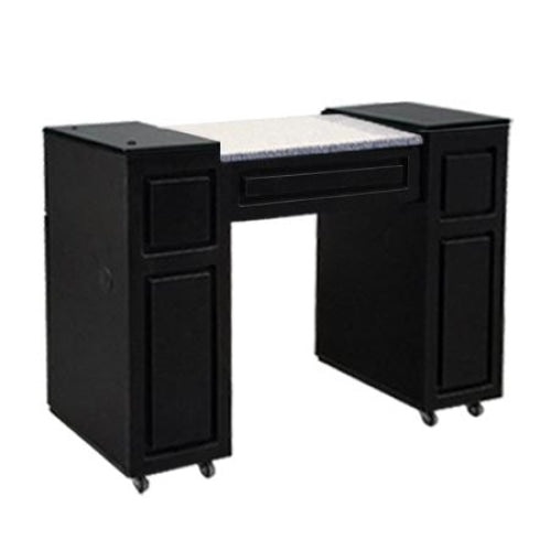 Canterbury (A) Manicure Table Black Deco Salon - Manicure Tables