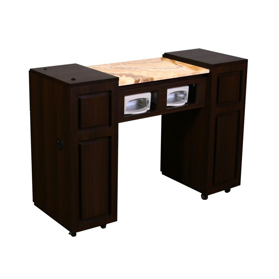 Canterbury (AUV) Manicure Table Chocolate Deco Salon - Manicure Tables
