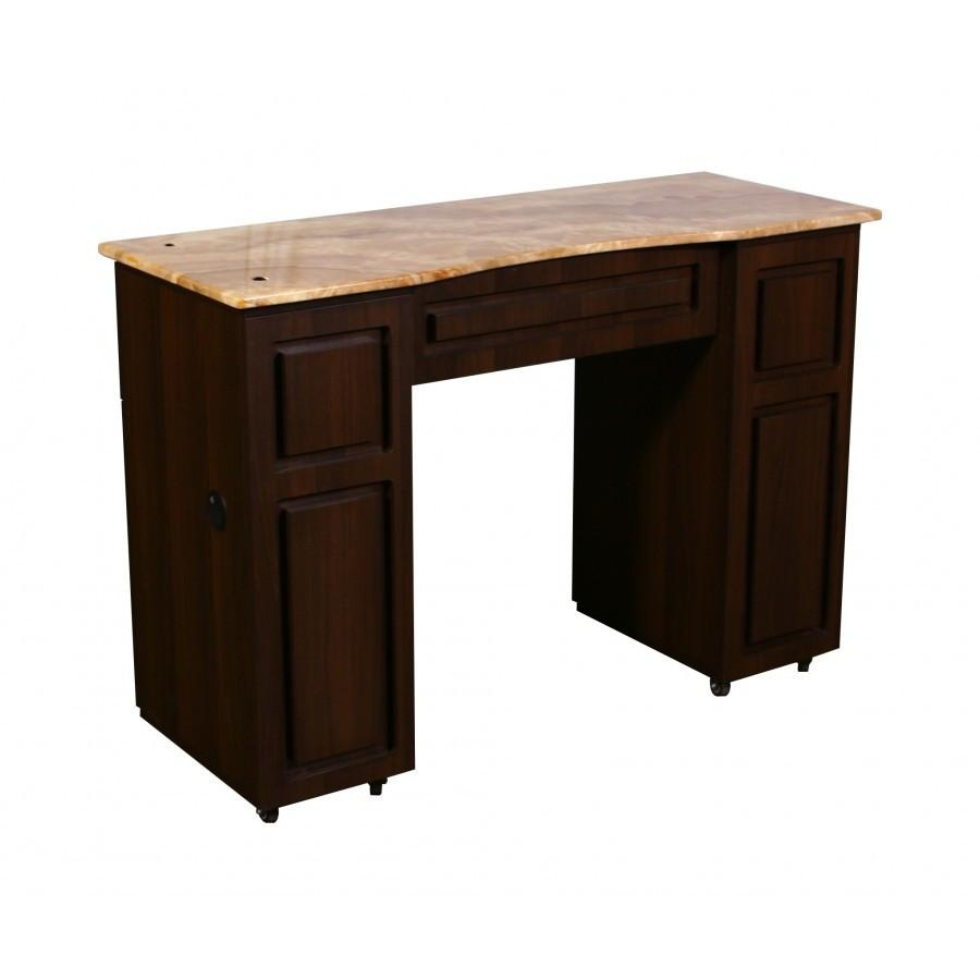 Canterbury (B) Manicure Table Chocolate Deco Salon - Manicure Tables