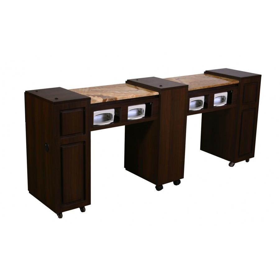 Canterbury (CUV) Manicure Table Chocolate Deco Salon - Manicure Tables