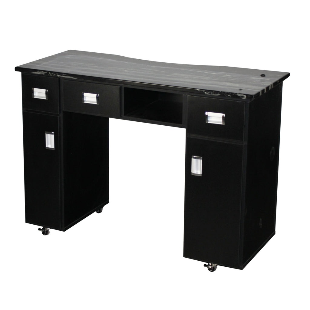 Canterbury Vented Manicure Table Black Deco Salon - Manicure Tables