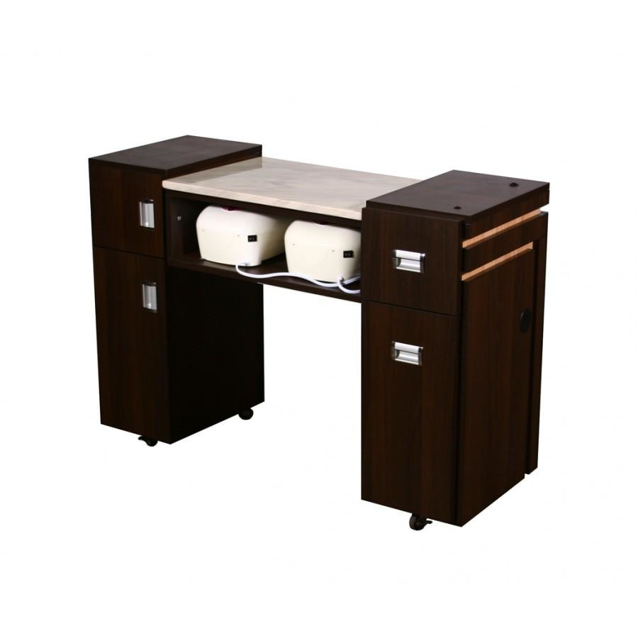 Carina (AUV) Manicure Table Chocolate Deco Salon - Manicure Tables