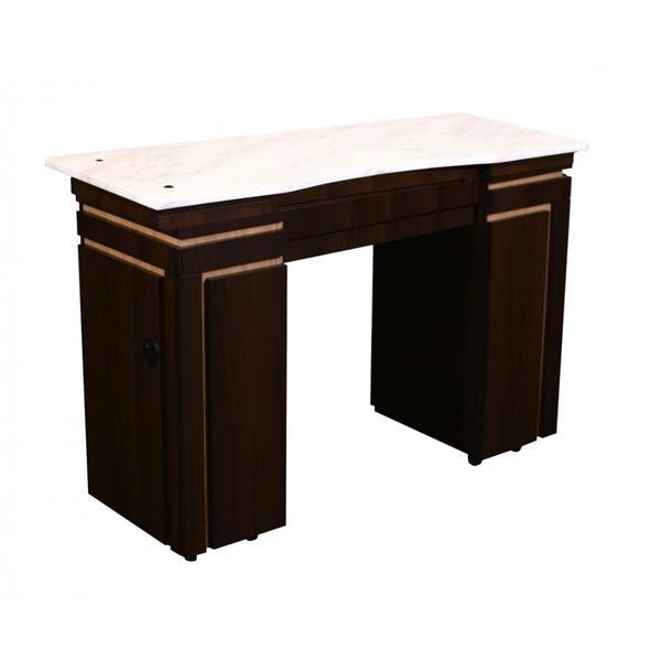 Carina (B) Manicure Table Chocolate Deco Salon - Manicure Tables