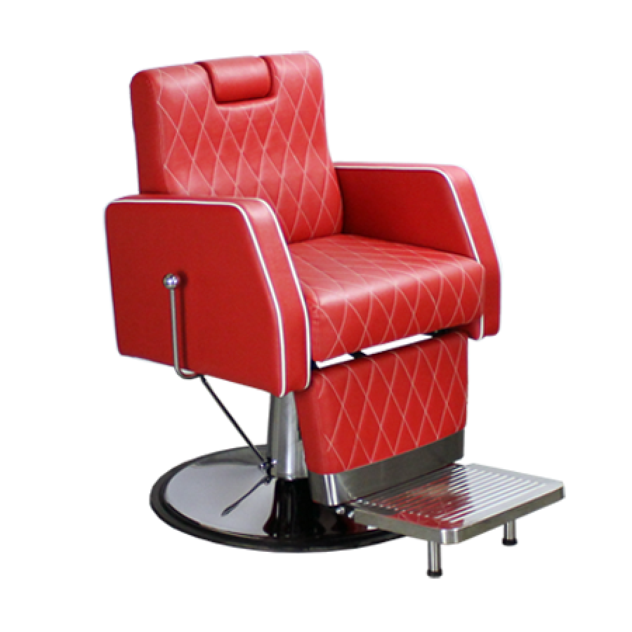 Carnegie Barber Chair Red Deco Salon - Barber Chairs