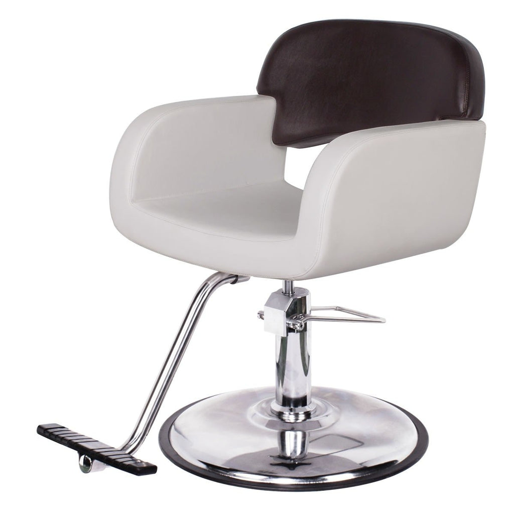 Catania Salon Styling Chair Beige AGS Beauty - Styling Chairs